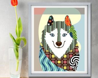 American Eskimo Dog, Eskie Puppy Pet Portrait