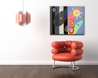Original Acrylic Painting On canvas, Acrylic Philosophical Painting,  Pop Art On Canvas, Original Colorful Painting, Abstract Painting