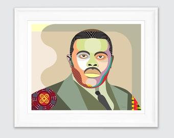 Marcus Garvey Art, Black History Civil Rights  Jamaican Gifts