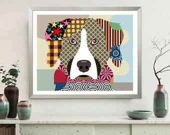 Bernese Mountain Dog, Berner Dog Portrait Pet Poster
