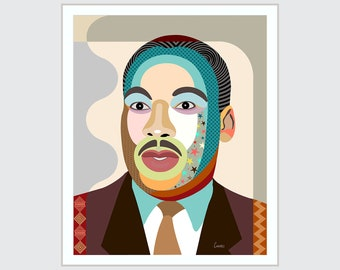 Martin Luther King, Civil Rights  African American Celebrity Portrait Black Nationalism Human Rights Activism
