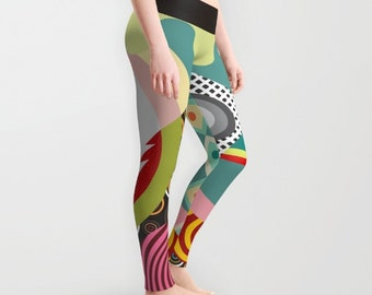 Printed Leggings, Colourful Leggings, Cute Leggings, Womens Leggings, Yoga Leggings, Workout Leggings,  Active Wear