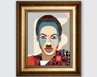 Julius Nyerere, Tanzanian Art Politician Pan African Portrait President