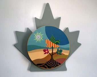 Canada Art, Maple Leaf, Maple Leaf Toronto, Canadian Seller, Pop Art Tree Painting, Wall Sculpture, Canadian Shop, Landscape Painting Print