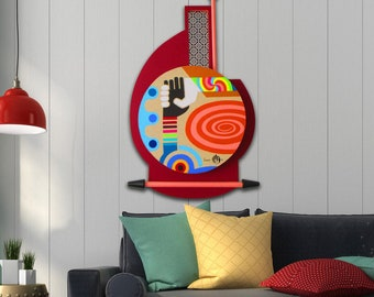 Interracial Art Racism Painting, United Nations Decor Wall Wood Sculpture