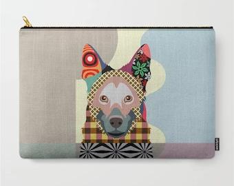 German Shepherd Dog Pouch, GSD Wallet Pet Gift