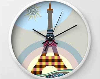 Eiffel Tower Clock, French Decor Paris Lover Gift
