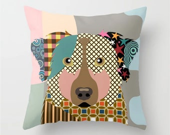 Australian Shepherd Pillow, Aussie Gift