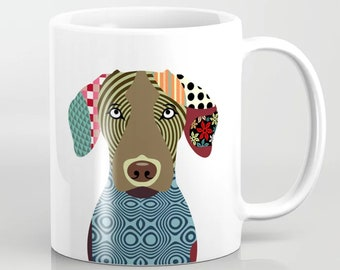 Vizsla Mug, Hungarian Dog Pet Portrait Gift Ceramic Cup