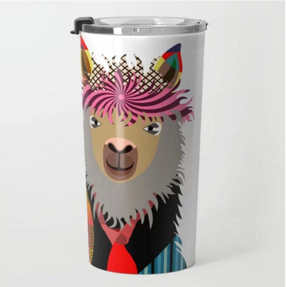 Llama Travel Mug, Stainless Steel Metal Tumbler
