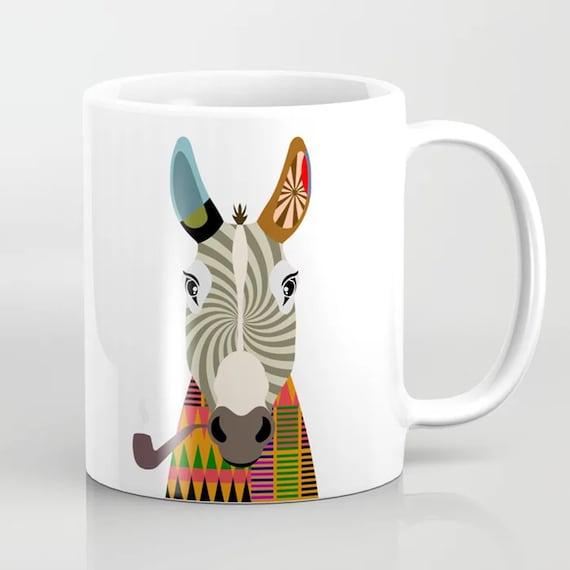 Donkey Mug, Funny Animal Coffee Cup Farmers Gift