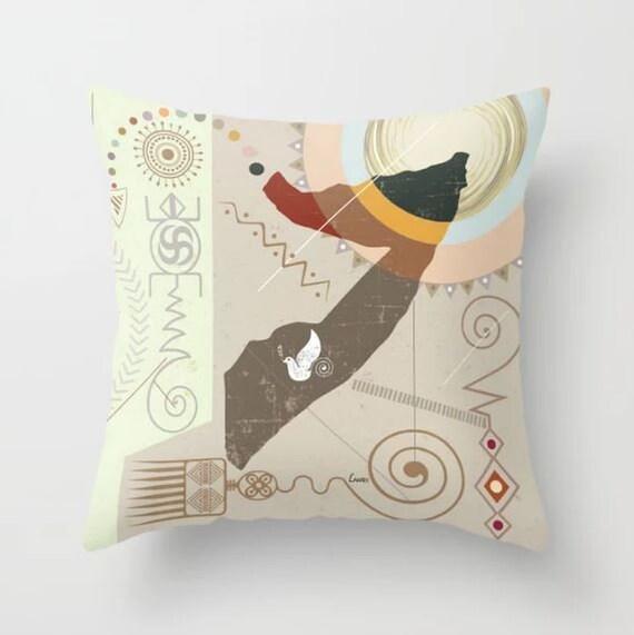 Somalia Decor, Somalia Pillow Gift, Mogadishu East African Art, Somalia Print, African Pillow, African Design, African Decor For Homes