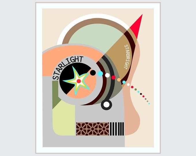 Bauhaus Art, Abstract Poster Geometric Decor Cubism Painting