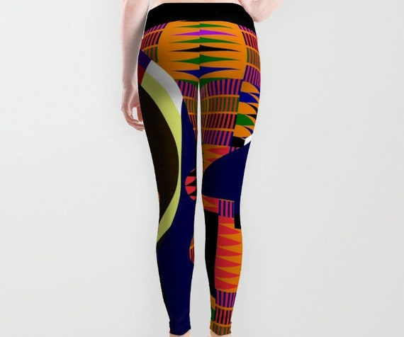Kente Pants, Kente Dress,  Kente Cloth, African Print Pants, Afrocentric Clothing, African Design, African Inspired, African Wear Leggings