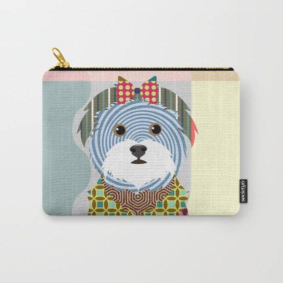Maltese Pouch, Maltese Wallet, Maltese Purse, Maltese Gifts, Dog Wallet, Pet Pouch, Dog Pouch, Zipper Purse,  Dog Zipper Pouch