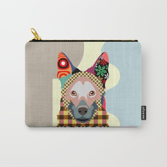 German Shepherd Pouch,  German Shepherd Lover Gifts, German Shepherd Wallet, German Shepherd Purse, Zipper Pouch, Coin purse, change purse