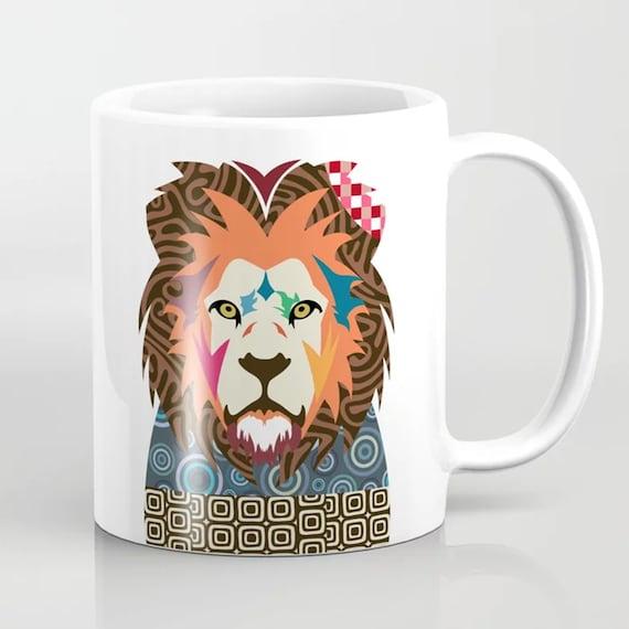 Lion Mug, Big Cat Lioness Print Coffee Ceramic Cup