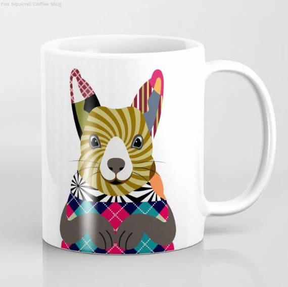 Squirrel Mug, Squirrel Gifts, Squirrel Art, Squirrel Designs, Squirrel Painting, Squirrel Print, Squirrel Gift, Animal Mug, Rodent