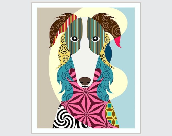 Borzoi Dog Art, Russian wolfhound Pet Portrait
