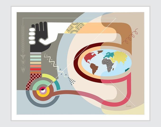 Racial Equality Art Racism Painting, World Unity