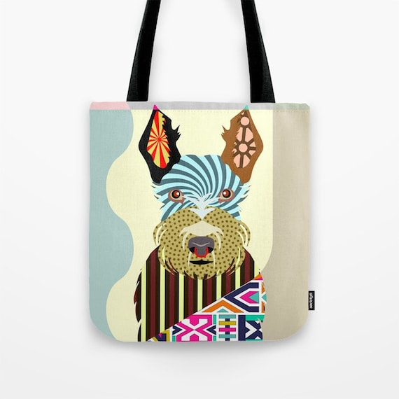 Scottish Terrier Bag, Scottish Terrier Gifts, Scottish Terrier Print, Scottie Gift, Scottie Print, Dog Tote Bag, Dog Lover's Gift