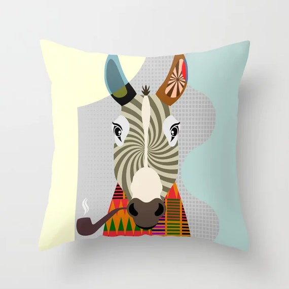 Donkey Pillow, Colorful Animal Cushion Farmers Gift