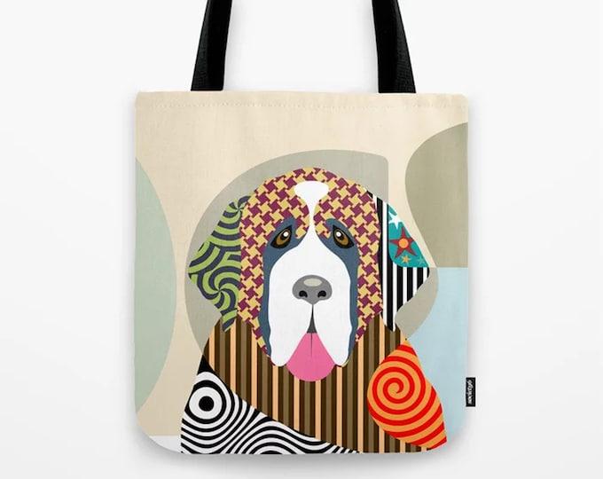 Saint Bernard Bag, Dog weekend Tote Puppy Shoulder Sack