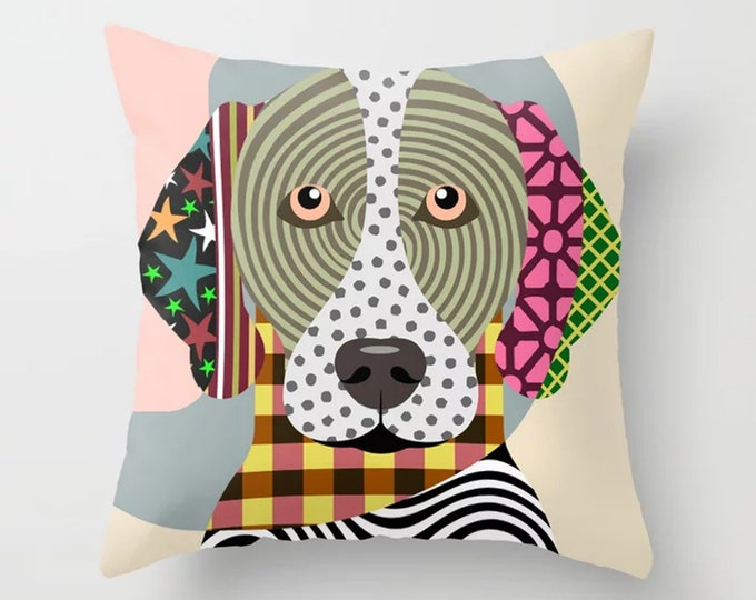 GSP Pillow, German Shorthaired Pointer Cushion