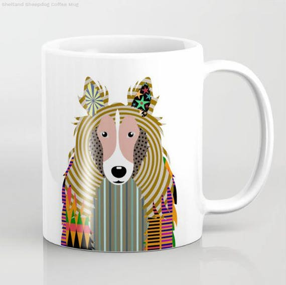 Sheltie Mug, Dog Mug,  Sheltie Gifts, Animal Mug, Pet Gifts, Pet Mug, Dog Lover Gift, Dog Lover Mug, Dog Lover, Animal Print