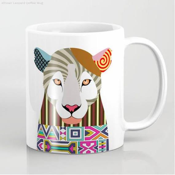 Leopard Mug, Leopard Gifts,  Leopard Art, Leopard Painting,  Leopard Print, Leopard Accessories, Animal Mug