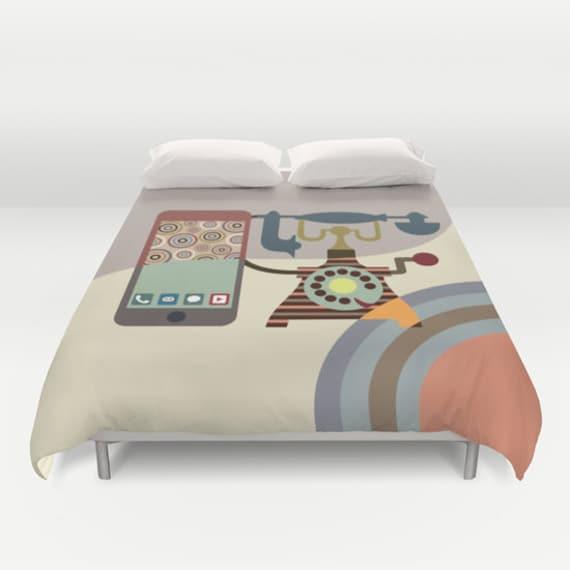 Unique Bedding, Cute Bedding Duvet Cover, Queen Duvet Cover, Full Duvet Cover, King Duvet Cover, Bedroom Decor, Beige, Tan, Cream, Brown