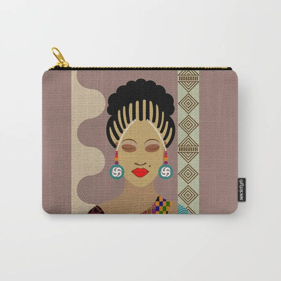 African Purse, African Zipper Pouch, Tribal Purse, Ankara Purse, African Fabric Purse, African Wallet,  Zipper Bag Purse