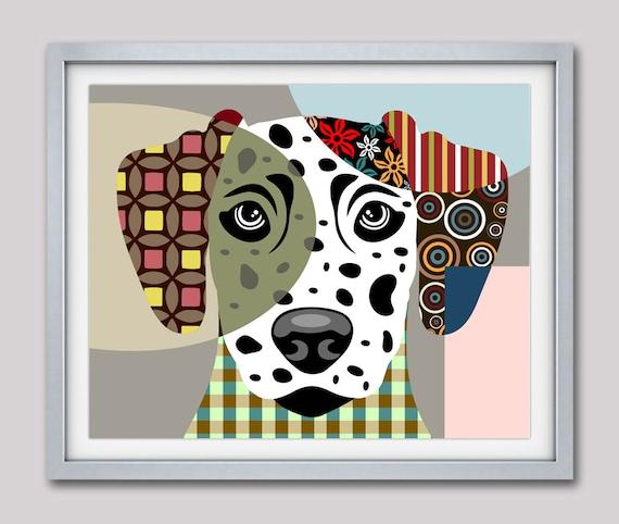 Dalmatian Art Print Poster, Dalmatian Dog Pet Portrait Pop Art, Animal Art, Dog Painting, Dog Wall Art