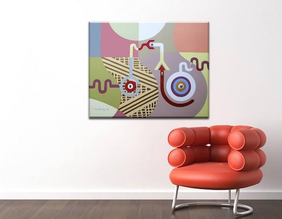 Destiny Painting, Destiny Art, Cubist Painting, Cubist Art, Geometric Art, Abstract Canvas Art, Abstract Painting Canvas, Acrylic Painting