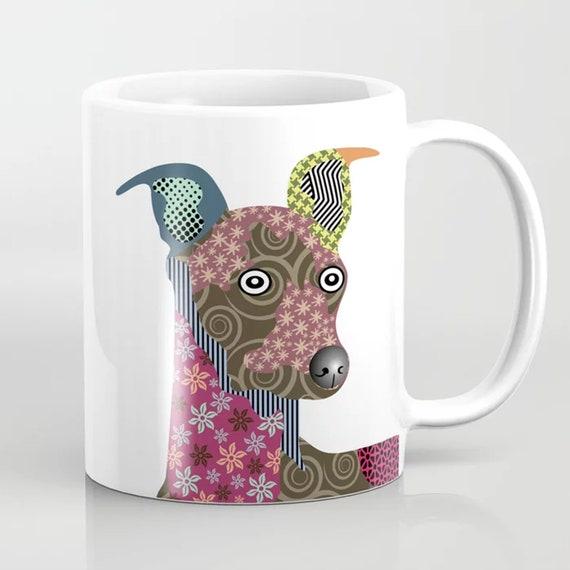 Greyhound Mug, Italian Dog Coffee Ceramic Cup