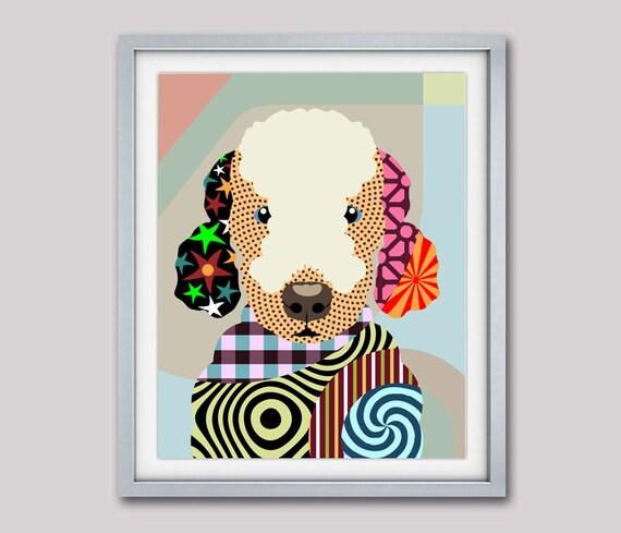 Bedlington Terrier Art, Bedlington Terrier Print, Dog Portrait, Dog Pop Art, Dog Breed Poster, Dog Breed Print, Dog Poster