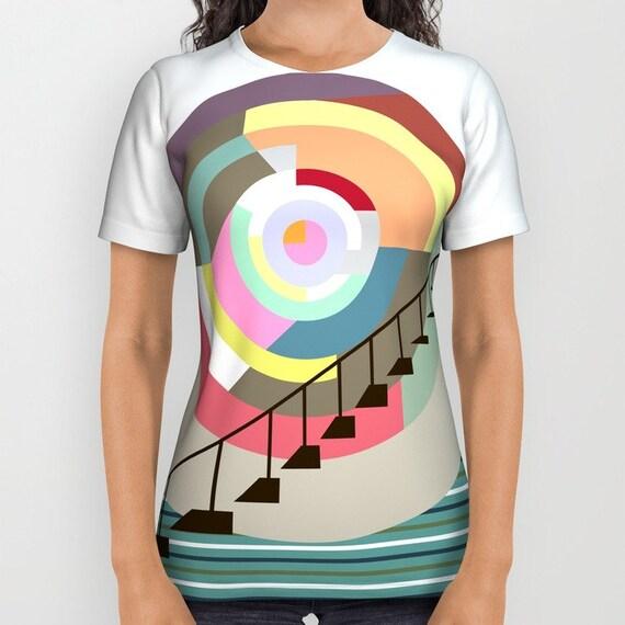 Geometric T Shirt, Printed T Shirt, Unique T Shirt,  Designer T Shirt For Women, T Shirt Men,  Womens Tees, Mens Tees, Colourful