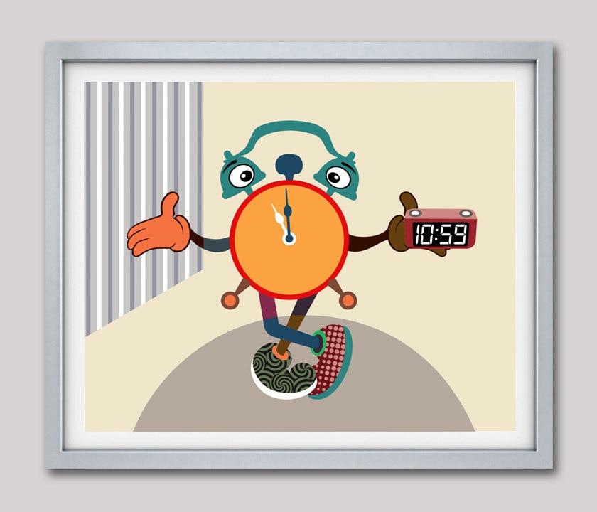 Clock Decor, Clock Art Deco, Clock Art, Clock Painting, Retro Clock ...