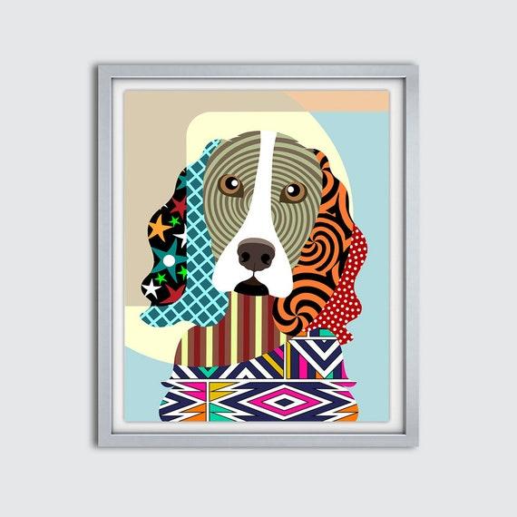 English Springer Spaniel Print, English Springer Spaniel Gift, English Springer Spaniel Art, Dog Art, Decor, Poster, Dog Painting