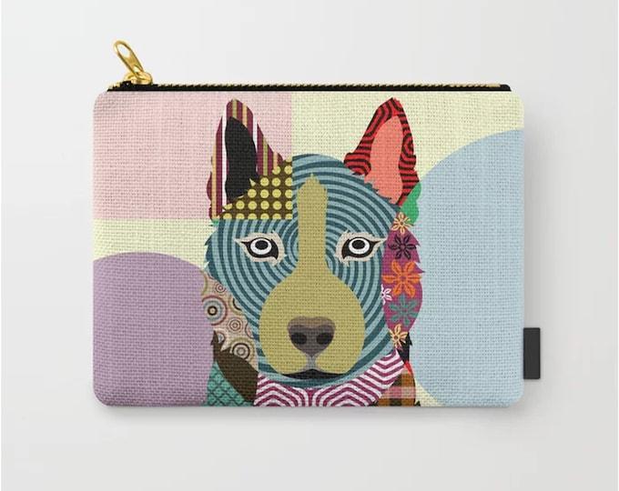 Siberian Husky Pouch, Dog Coin Purse Zipper