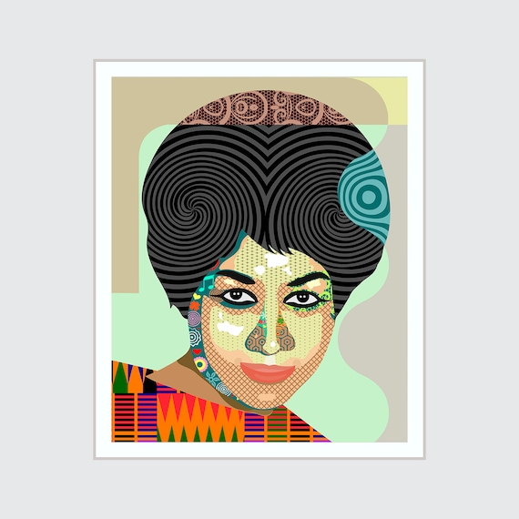 Aretha Franklin Art, Queen Of Soul Celebrity Poster