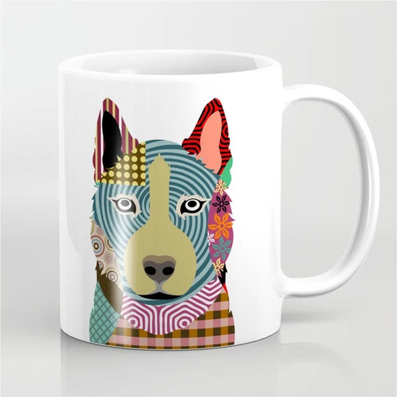 Shiba Inu Mug, Dog Illustration Puppy Print Pet Portrait