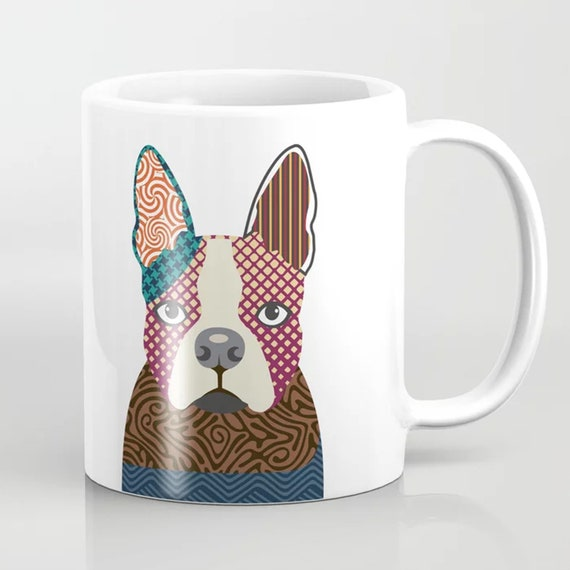 Boston Terrier Mug, Cute Dog Ceramic Coffee Cup