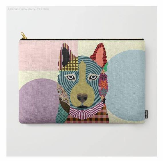 Siberian Husky Pouch, Husky Purse, Siberian Husky Gifts, Husky Wallet, Pet Pouch, Pet Gifts,  Dog Pouch, Zipper Bag Purse, Dog Zipper Pouch