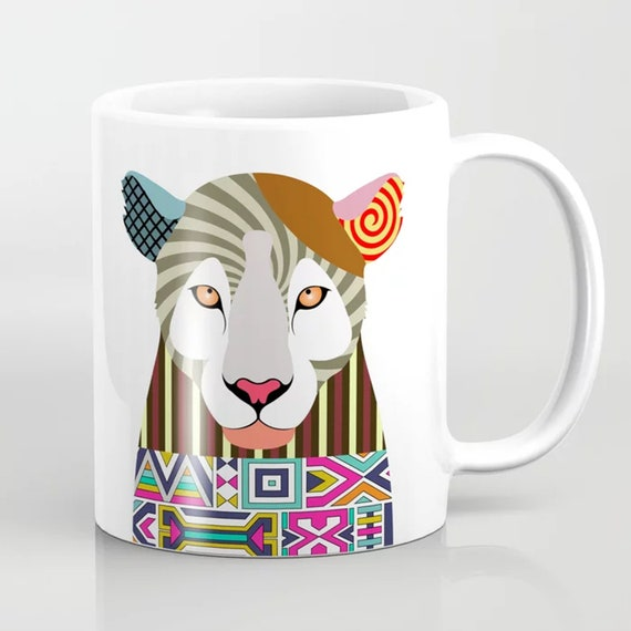 Leopard Mug Animal Cup, Colorful Ceramics