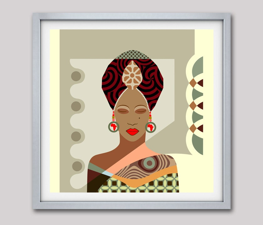 African Woman, Black Woman Art, Black Woman Painting, African