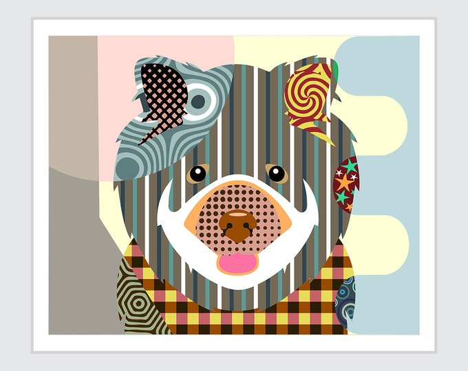 Chow Chow Dog Art Print Poster, Chinese Pet