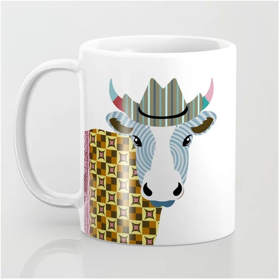 Cow Mug Cattle Gifts Livestock Print Farm House