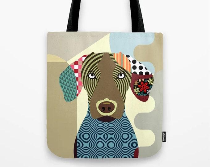 Vizsla Bag, Dog Canvas Tote Sack Pet Portrait