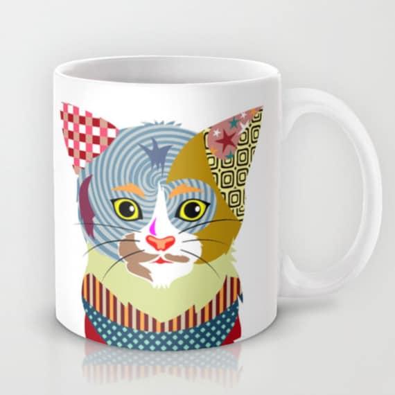 Cat Mug, Cute Cat Mug Ceramic Mug, Pet Mug, Cat Lover Mug, Tea Mug, Cat Lover Gift, Animal Mug, Cool Coffee Mug